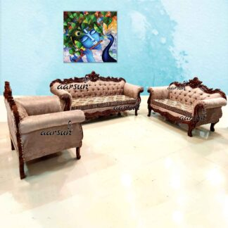 Image for Hand-Carved Wooden Sofa for Home YT-183
