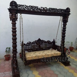 Aarsun Handcrafted Indoor Swing Wooden Jhula UH-YT-92