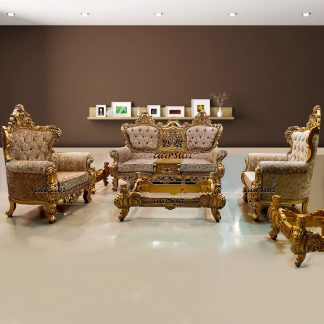 Image for Wooden Sofa Set with Royal Finish UH-YT-218