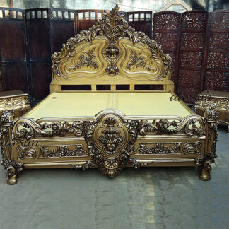 UH-YT-53 Wooden Maharaja Royal Bed