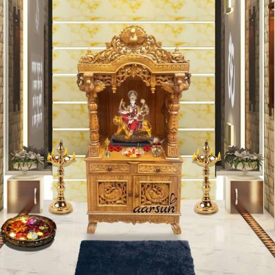 Large Wooden Temple Handmade Pooja Unit UH-YT-103
