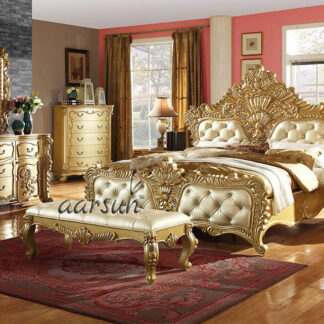 Carved Wood furniture Set UH-ROYAL-0017