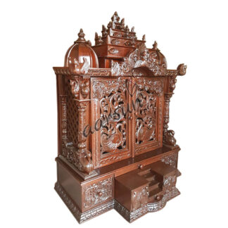 Home Pooja Temple - Wooden Mandir MNDR-0128