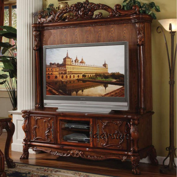 UH-TVCB-0017 Aarsun Antique Style TV Unit Cabinet