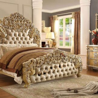 UH-ROYAL-0013-Royal Bedroom Furniture Wooden-Bed-Aarsun