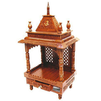 UH-MNDR-0060- Home Wooden Mandir