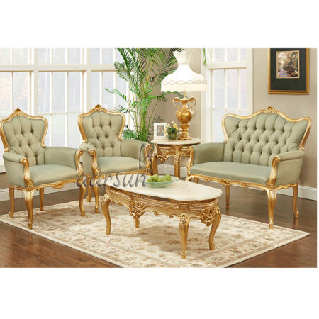 UH-SF-0039 Wooden Akrali hand-carved Sofa Set Aarsun