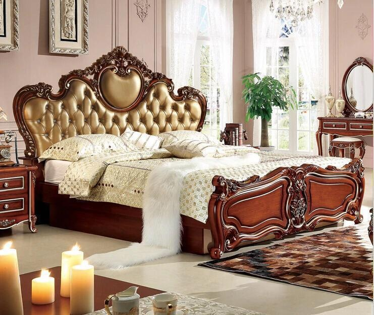 UH-YT-192 Aarsun Wooden Bed Furniture