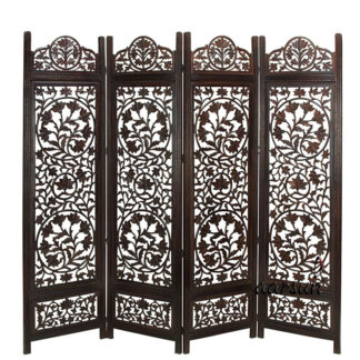 Floral Carved Partition Screen Aarsun UH-RD-0064