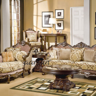 UH-SF-0069 Fully Carved Wooden Sofa Set