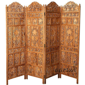 Leaves Carved Room Divider Aarsun UH-PART-0065