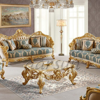 UH-SF-0033 Aarsun Royal Wooden Sofa Set