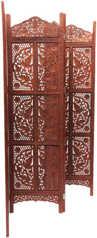 Traditional 4 Panel Partition Screen in Sheesham Wood PART-0054 1