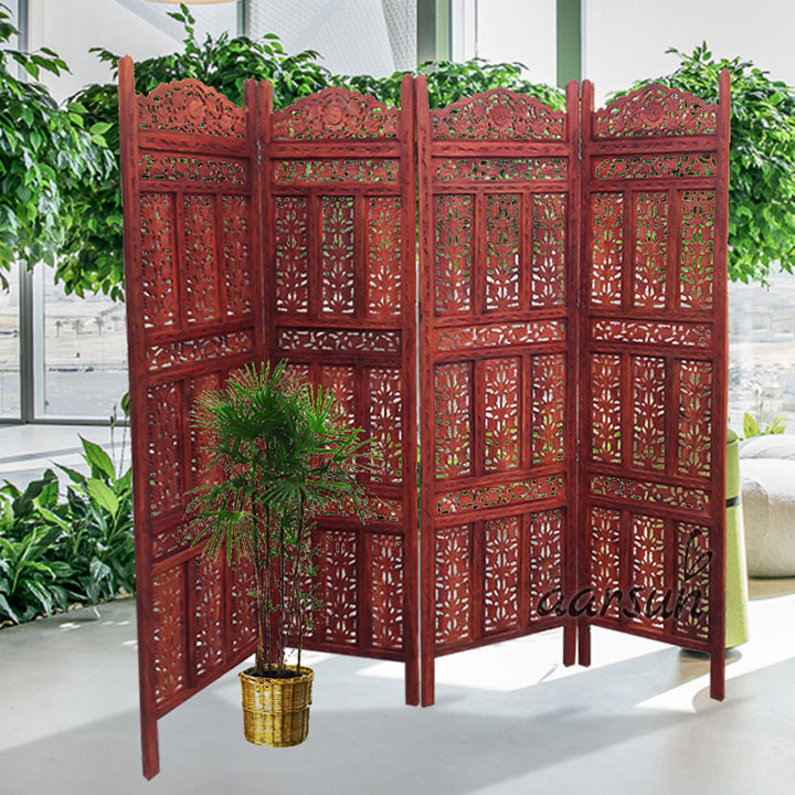 Wooden Partition Leaf Carving UH-RD-0006