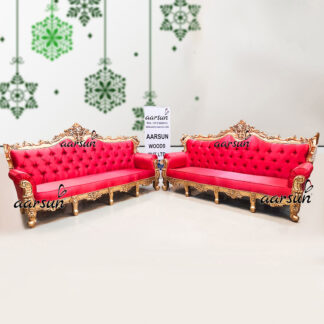 Image for 4 Seater Sofa Set in Smooth Pink Fabric UH-YT-267