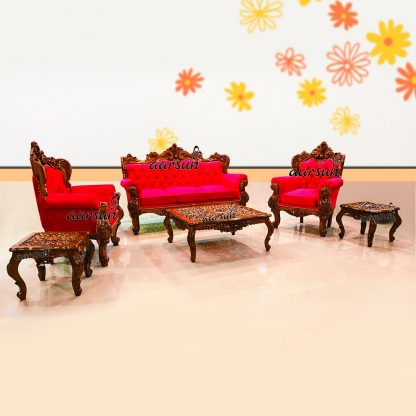 Image for 5 Seater Pink Fabric Sofa Set UH-YT-301