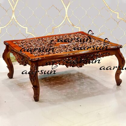Image for Carved Center Table Coffee Table YT-301CT