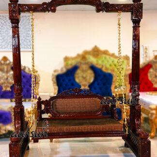 Double Carved Oonjal Jhula in Teak Wood UH-YT-300