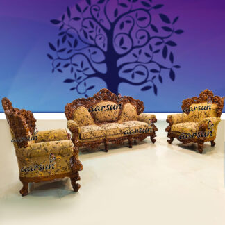 Image for Double Carved Sofa Teak Wood UH-YT-215