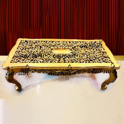 Image for Gold Finish Carved Coffee Table YT-296CT