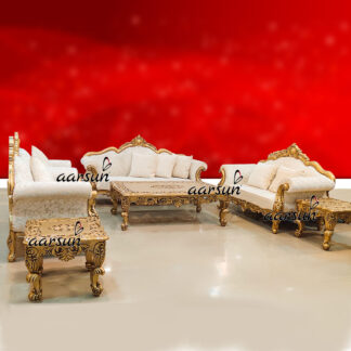 Image for Handcrafted Sofa Set in Teak Wood UH-YT-247