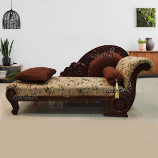 Image for Wooden Couch Studio Couch in Walnut Finish UH-YT-212