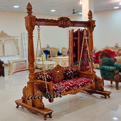 Wooden Indoor Jhula Swing Floor Standing UH-YT-286