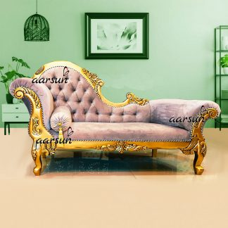 Image for Antique Gold Finish Divan Chaise Lounge UH-YT-314