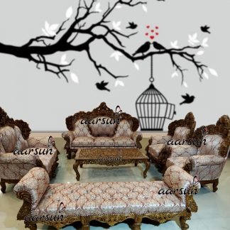 Image for Double Carved Sofa Set in Matte Finish UH-YT-317