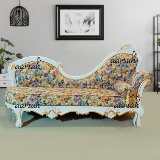 Image for Beautiful Daybed in White & Gold Highlights UH-YT-356