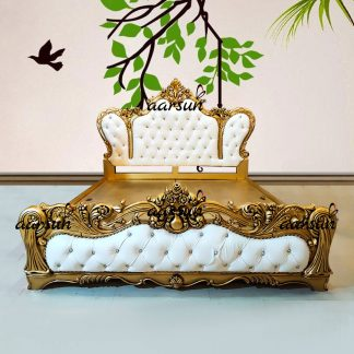 Image for Luxury Classic King Size Bed in Teak Wood UH-YT-343