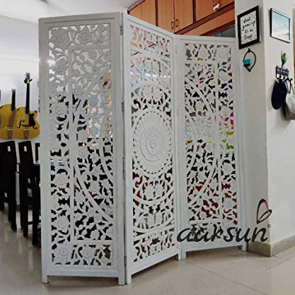 Image for White Wooden Partition Room Separator UH-NTPRT-0008