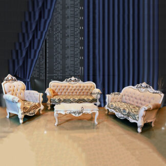 Image for Classic Victorian Sofa Set in White Polish UH-YT-396