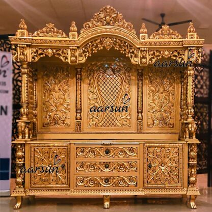 Image for Handcrafted Antique Gold Temple UH-YT-389