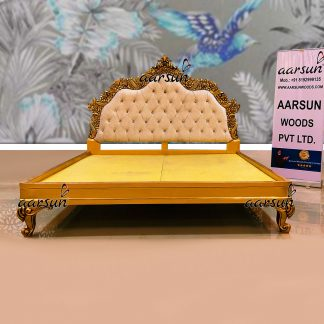 Image for King Size Empire Bed Handcrafted Teak Wood UH-YT-383