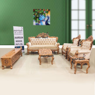 Image for Victorian Sofa Set in Copper Paint with TV Unit UH-YT-377
