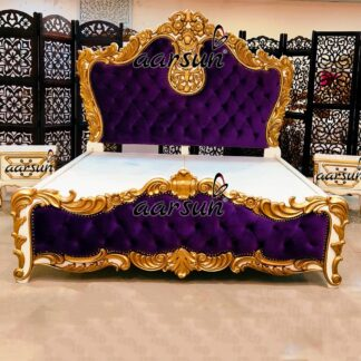 Image for Handcrafted Maharaja Bed with Side Table UH-YT-440