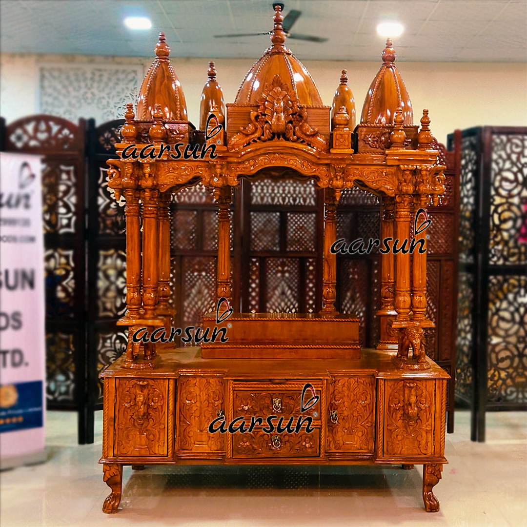 Image for Handcrafted Teak Temples Customized as per Your Choice UH-YT-431