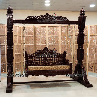 Image for Indoor Jhula Handcrafted in Classic Design in Teak Wood UH-YT-452