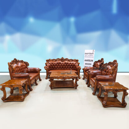 Image for Truly Premium Sofa Set Double Carved in Teak Wood UH-YT-458