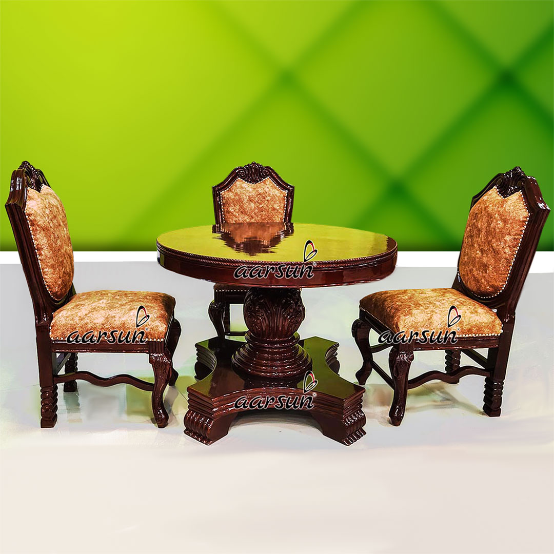 Image for Classic 4 Seater Round Dining Set UH-YT-474