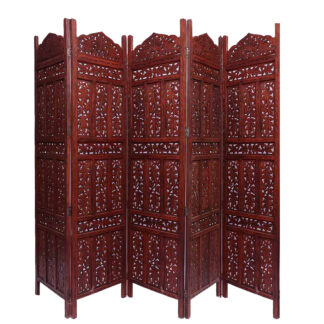 Image for 5 Panel Partition Screen in Sheesham Wood