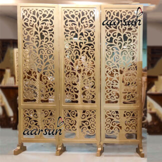Image for Room Divider in Antique Gold Paint YT-271-3P