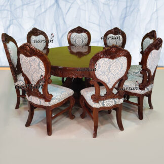 Image for Classic Round Dining with 6 Chairs & Round Top Table UH-YT-509