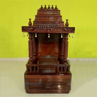 Image for Handcrafted Bell Temple in Teak Wood UH-MNDR-0011