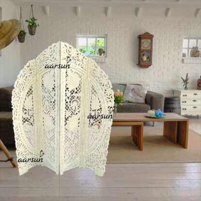 Image for Off White Distress Room Divider UH-RD-0074