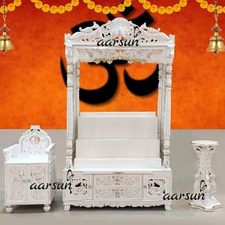 Image for Handcrafted Mandir with Chowki Steps UH-YT-520