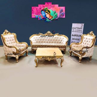 Image for Royal Living Room Sofa Set in Classic Gold UH-YT-533
