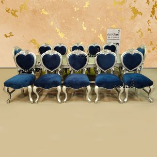 Image for 12 Seater Silver Painted Dining Set